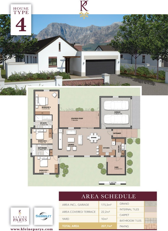 3 Bedroom House - Kleine Parys Estate Unit No 2 House Type 4 - Paarl
