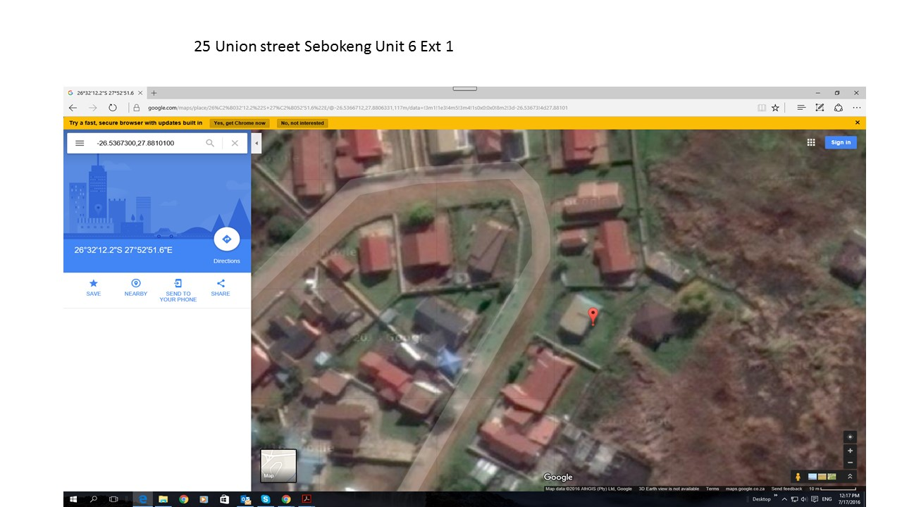 2 Bedroom House for sale in Sebokeng ENT0004764 : photo#1