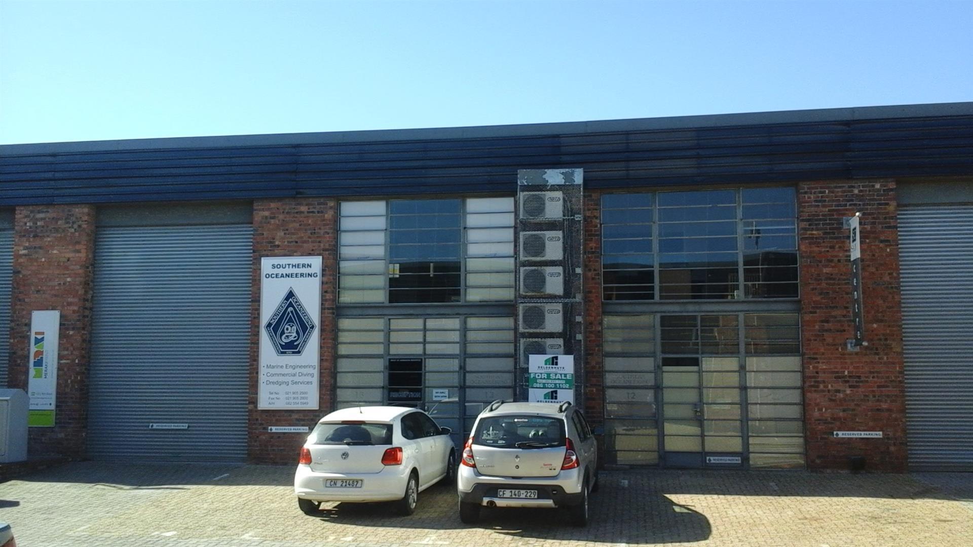 280 m2 Factory FOR SALE Saxenburg Park 1 Blackheath @ R 6 250 /m2 = R 1 750  000 + VAT